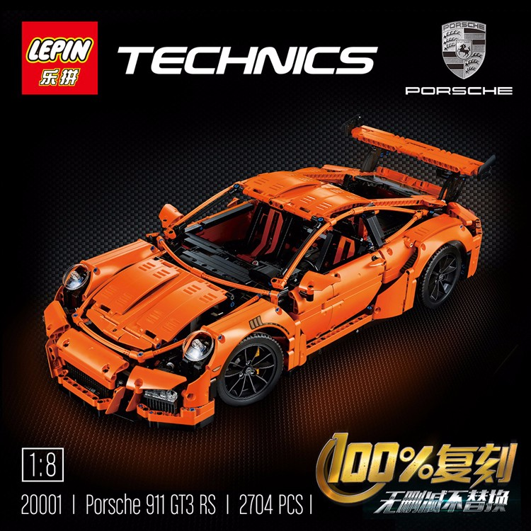 Review Of Lepin 20001 Porsche 911 Gt3 Rs Bootleg Of Lego 42056 Customize Minifigures Intelligence
