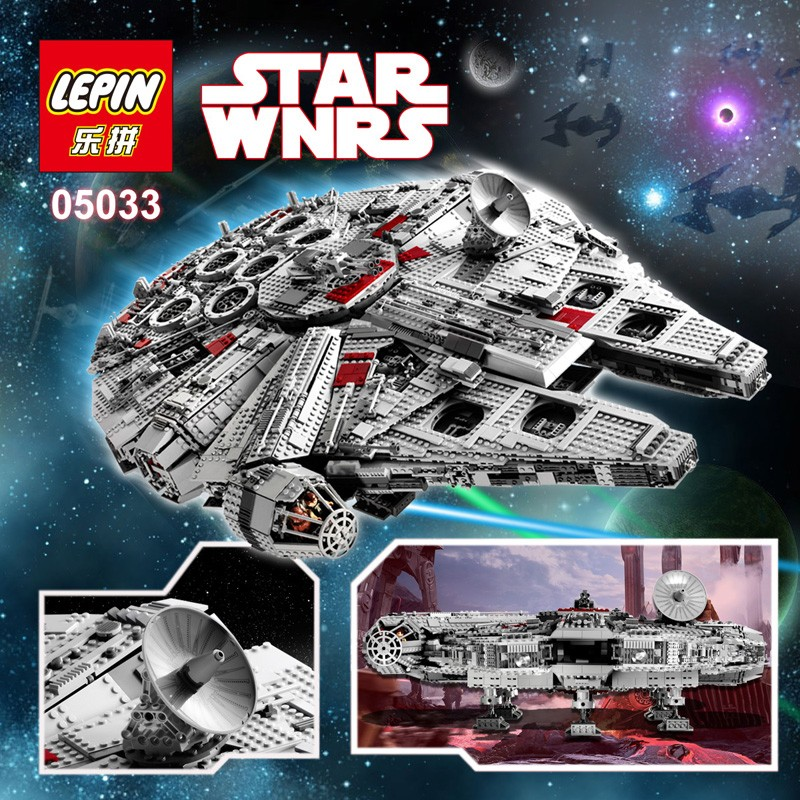 Review of Lepin 05033 Bootleg version of Lego 10179 UCS Millennium ...