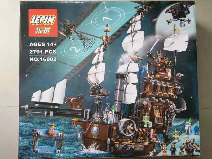Lepin 16002 MetalBeard's Sea Cow Bootleg of Lego 70810