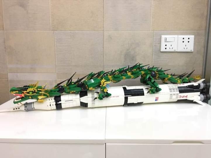 Bozhi 196 Green Ninja Mech Dragon