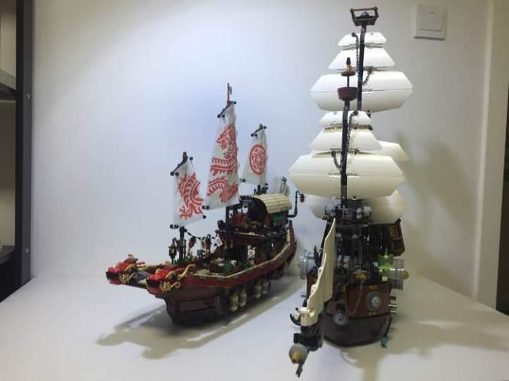 Lego 70618 Destiny's Bounty and Lego 70810 Metalbeard's Sea Cow