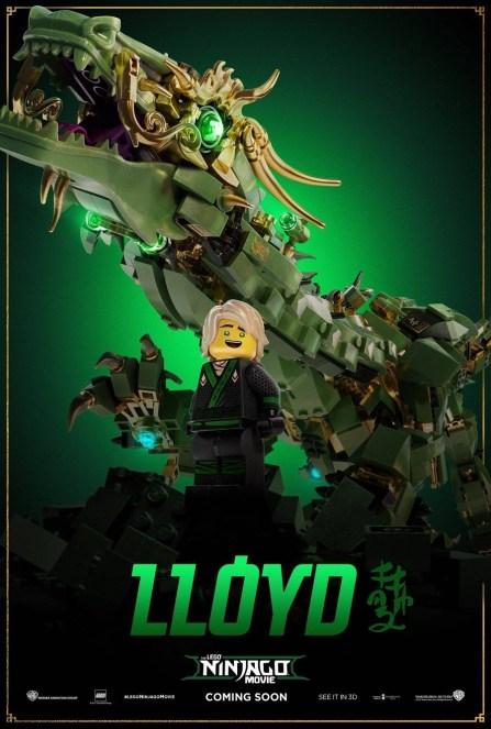 Ninjago Movie Poster Lloyd Dragon Mech