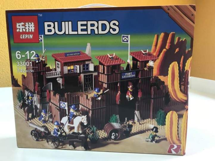 Lepin 33001 Fort Legoredo Lego 6762 6769 box