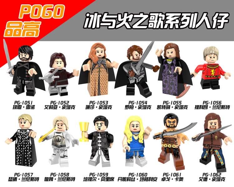Game Of Thrones Custom Minifigures Jon Snow Daenerys plus more! Tyrion Arya