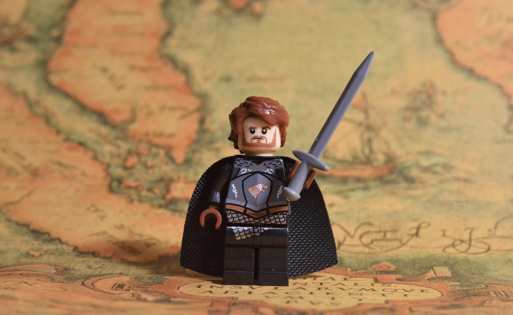 NEW Game Of Thrones Eddard Ned Stark Minifigure Lord Of Winterfell Custom Lego
