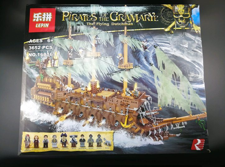 Lepin 16016 The Flying Dutchman Pirate Ship Review Customize