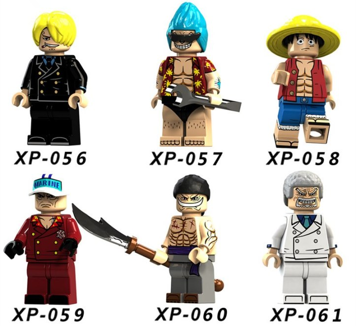 KT1008 LEGO One Piece Minifigures by KORUIT