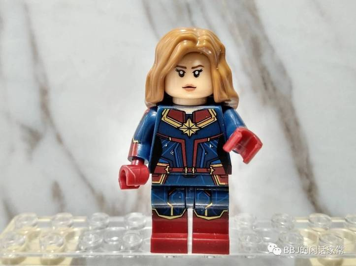 LEGO Captain Marvel, Xinh Captain Marvel with side printing, Traditional Red, Blue, Yellow Captain Marvel