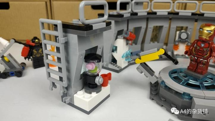 Review of LEPIN 07121 Iron Man Hall of Armor Bootleg of LEGO