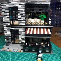 Reviews of Mould King 16042 Pub and Restaurant Modular ISLET Authorized LEGO MOC 53084 of Ohsojang